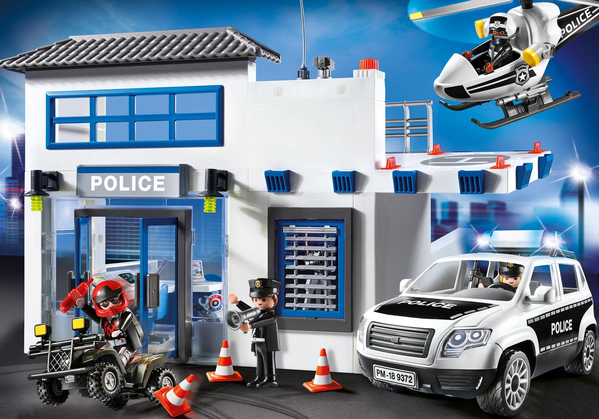 Polizeistation 9372 playmobil deutschland - Caserne de police playmobil ...