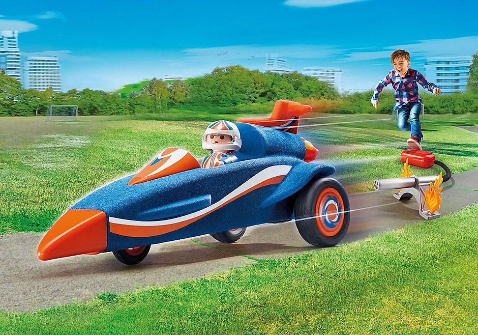 9375 Piloot met autoraket detail image 1
