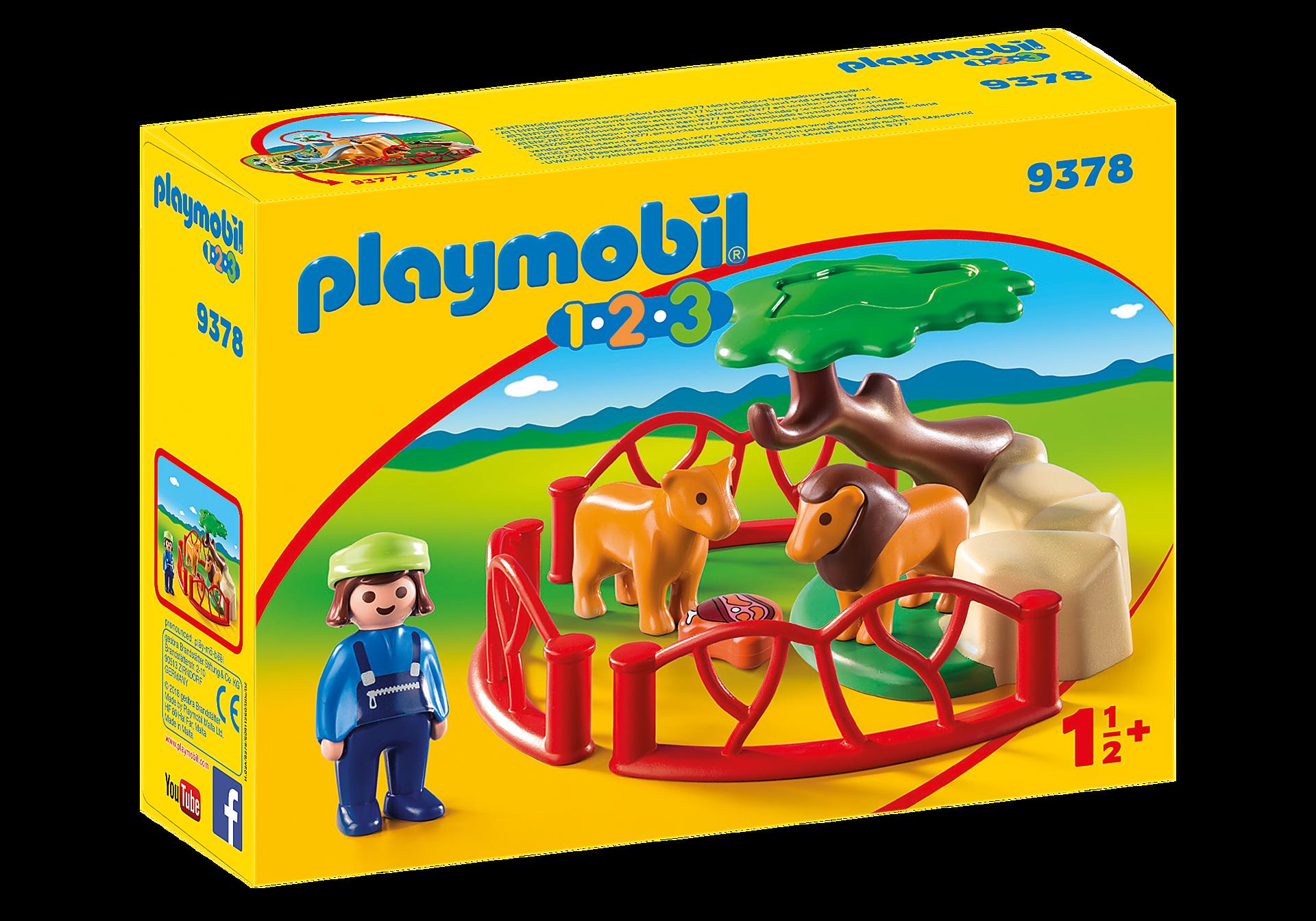 http://media.playmobil.com/i/playmobil/9378_product_box_front/Λιοντάρια Ζωολογικού Κήπου με περίφραξη