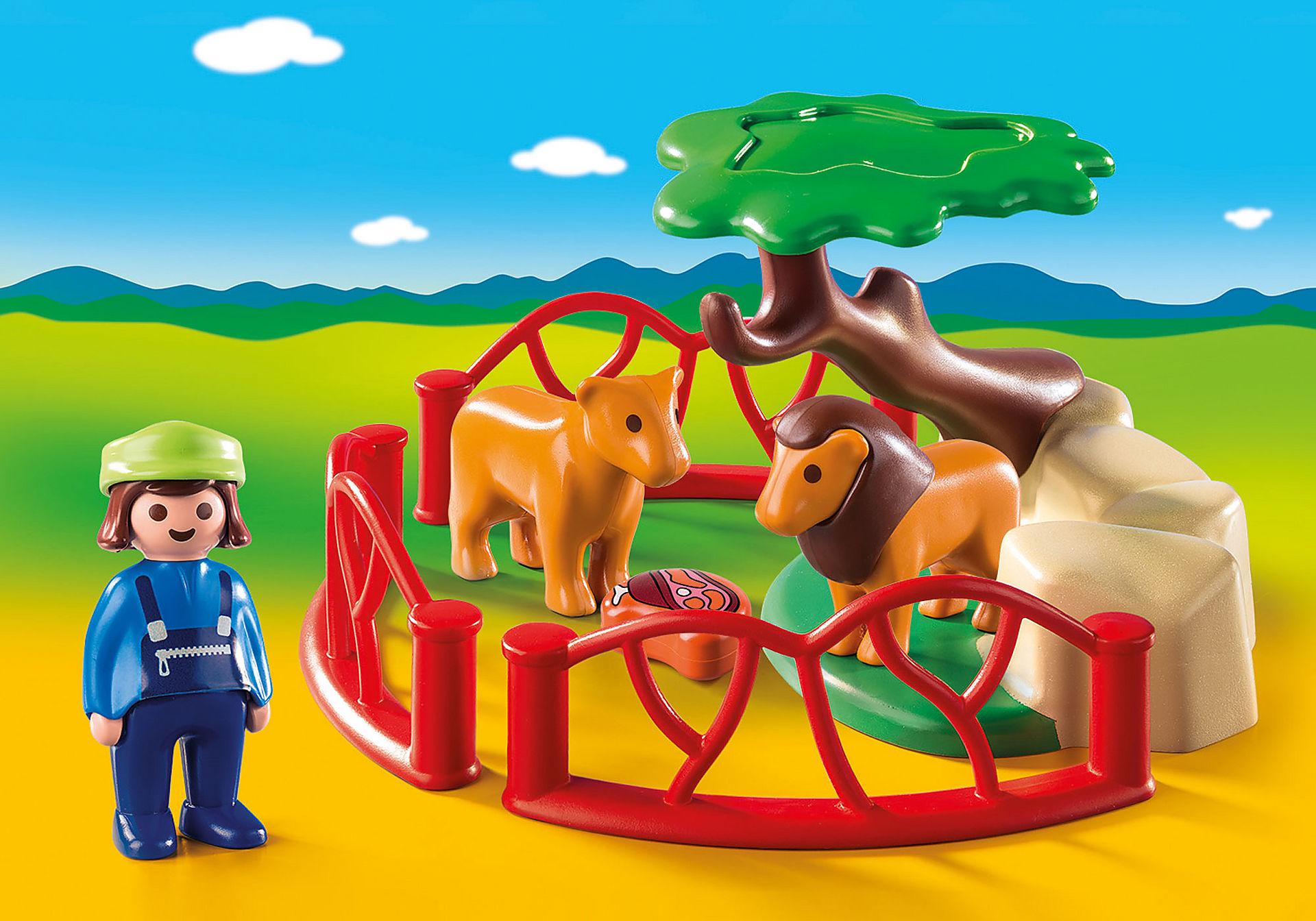 http://media.playmobil.com/i/playmobil/9378_product_detail/Λιοντάρια Ζωολογικού Κήπου με περίφραξη