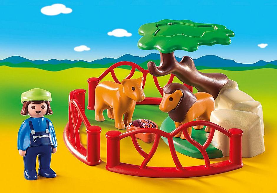 9378 Lion Enclosure detail image 1