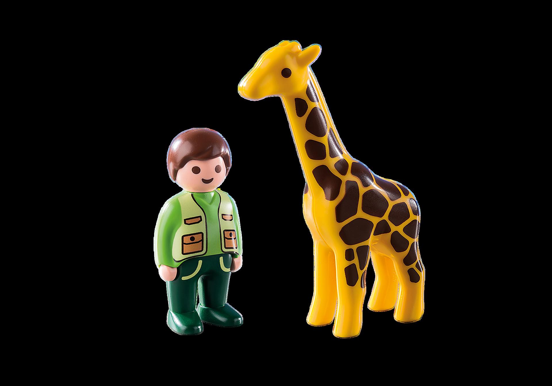 9380 Custode dello zoo con giraffa 1.2.3 zoom image4