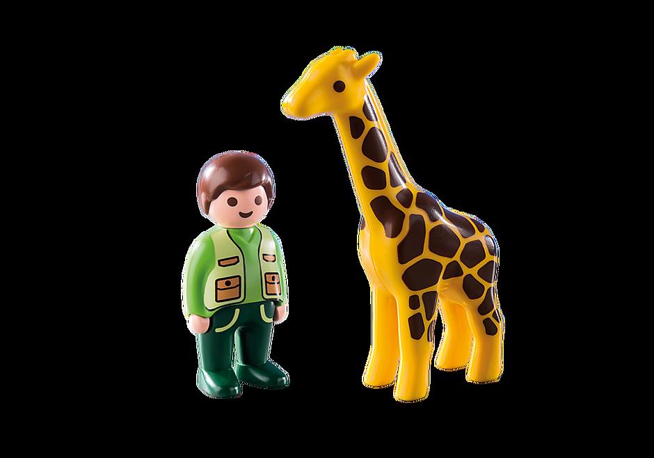 9380 Dierenverzorger met giraf detail image 4