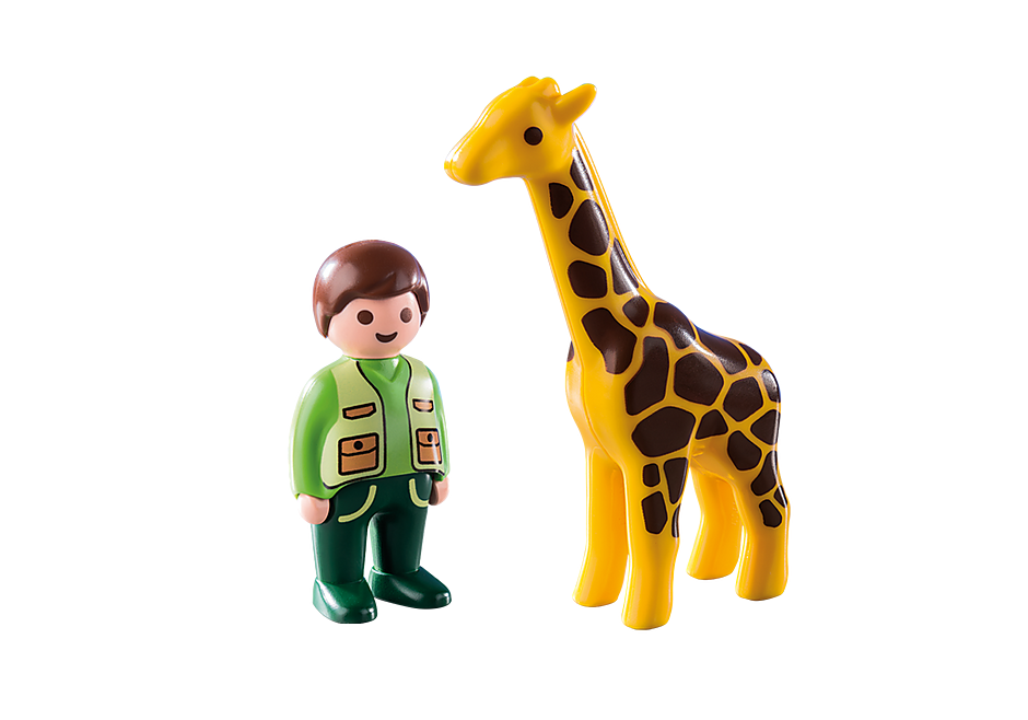9380 Soigneur avec girafe detail image 4