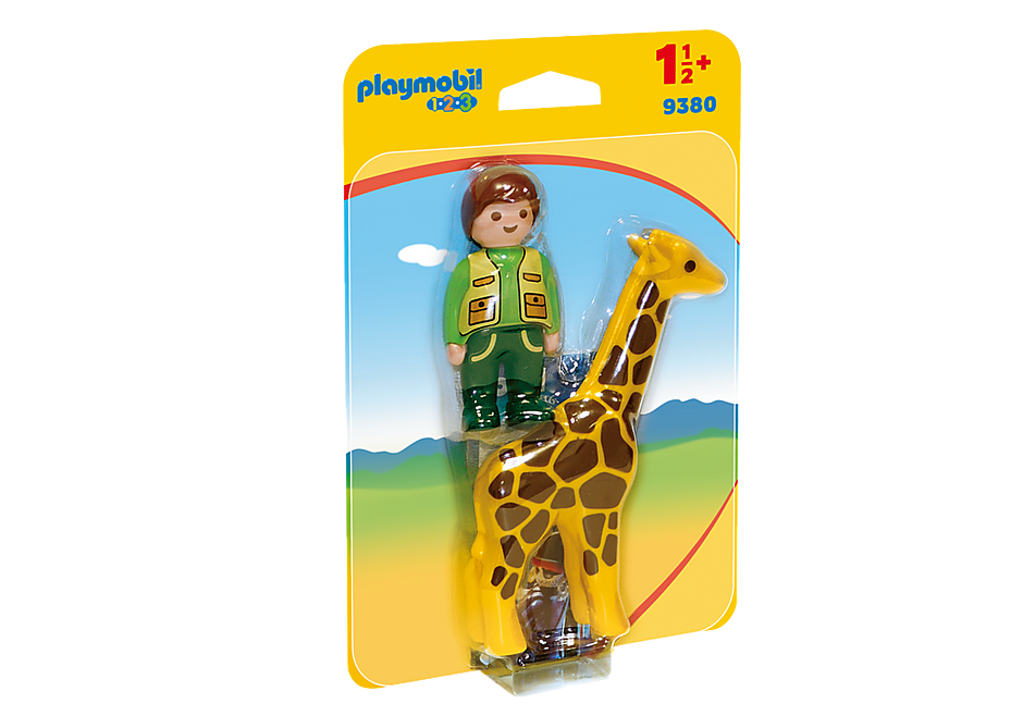 9380 Dierenverzorger met giraf detail image 3
