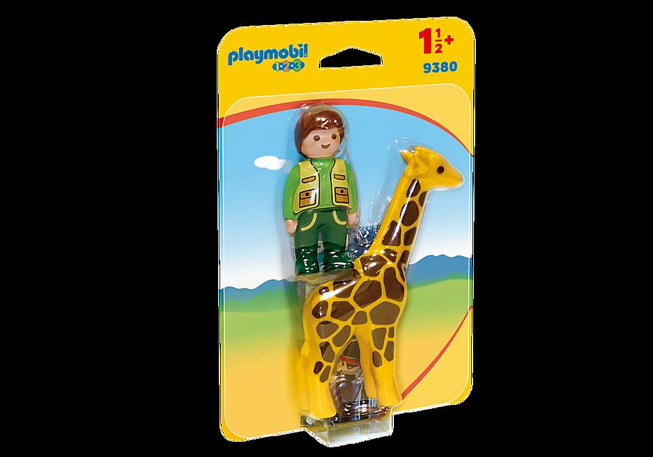 9380 Tierpfleger mit Giraffe detail image 3