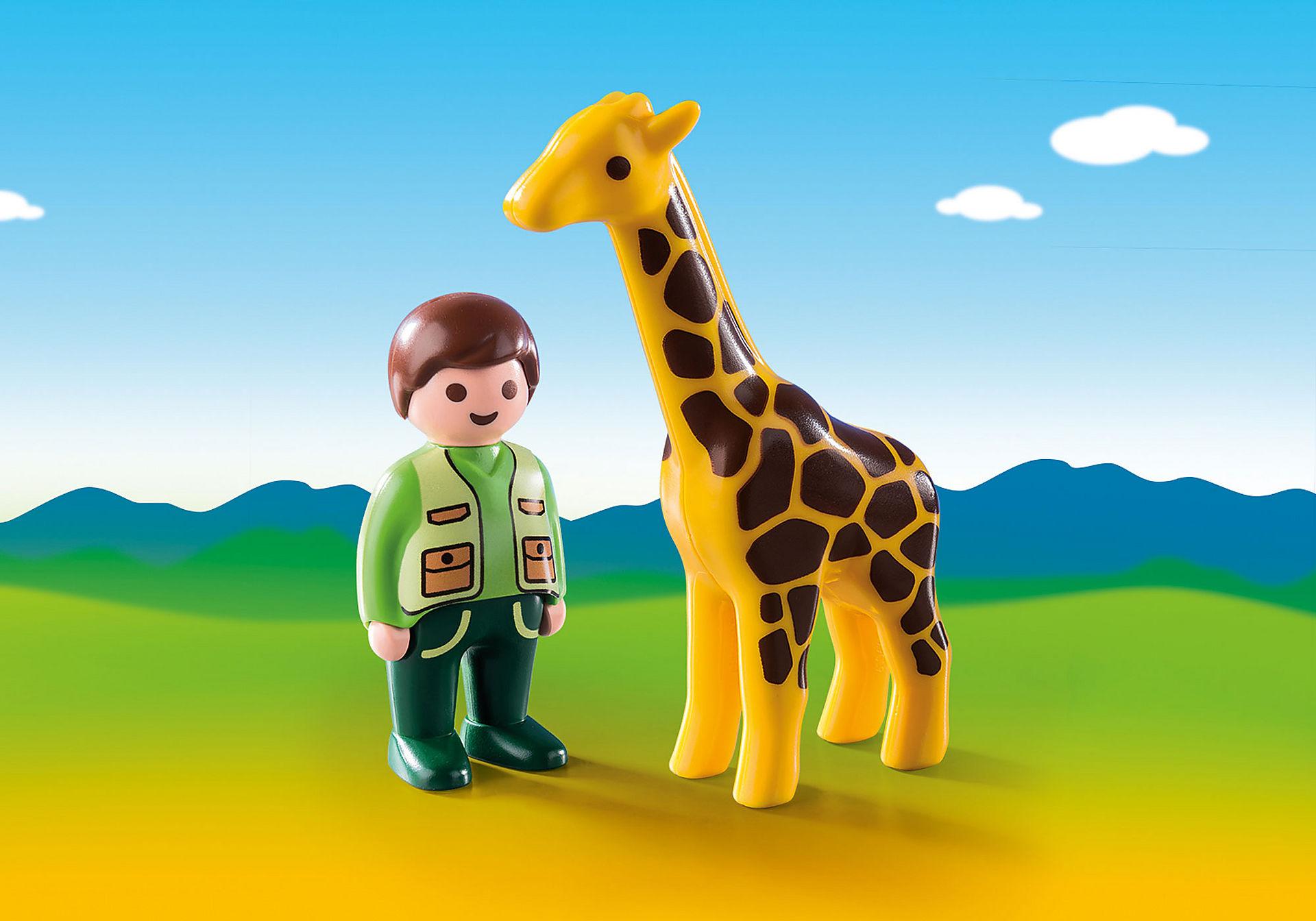 9380 Tierpfleger mit Giraffe zoom image1