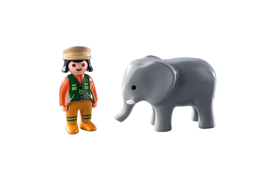 9381 Zookeeper with Elephant detail image 4