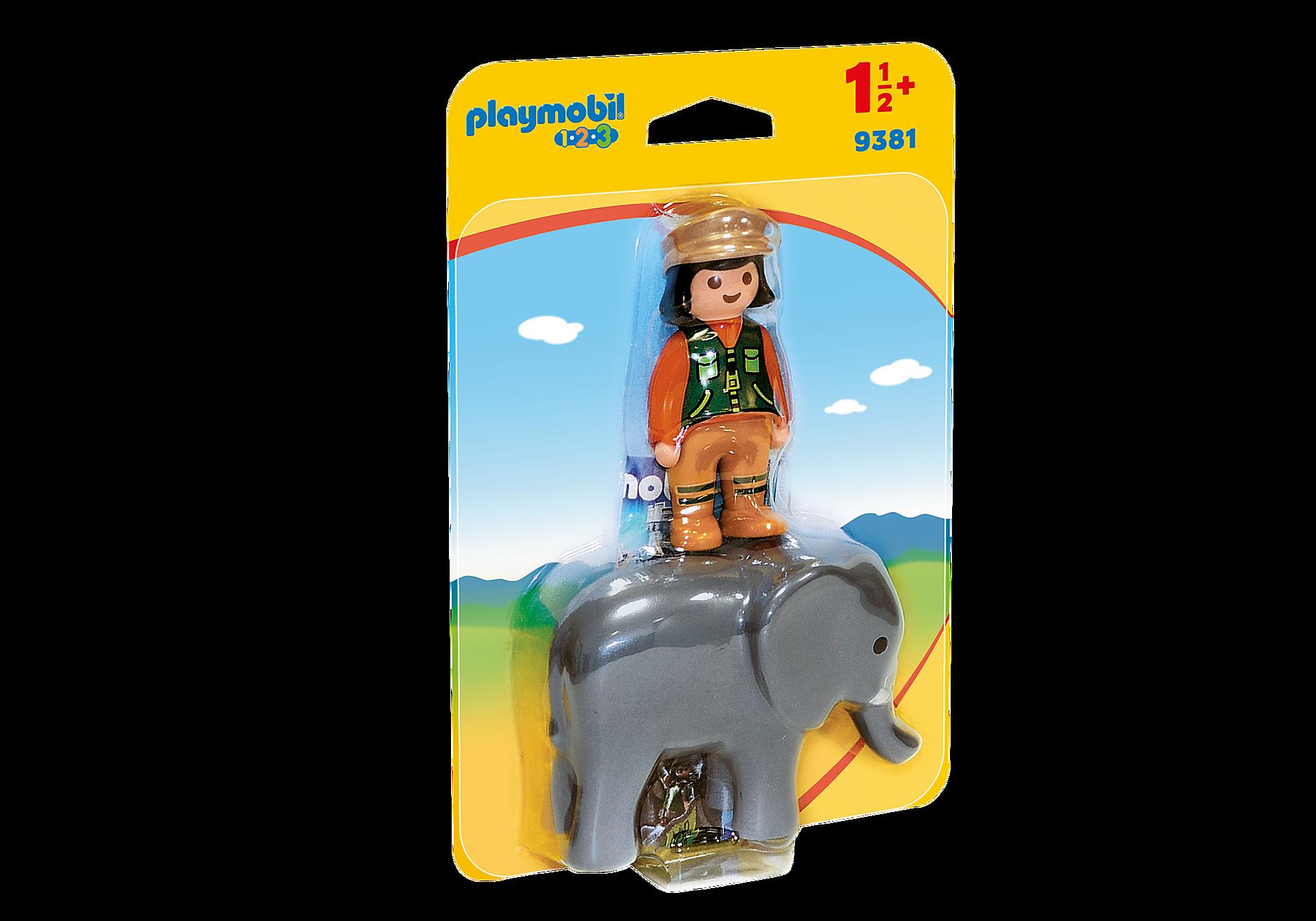 9381 Φύλακας Ζωολογικού Κήπου με ελέφαντα zoom image3
