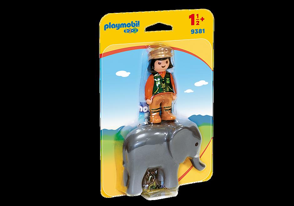 9381 Soigneuse avec éléphanteau detail image 3
