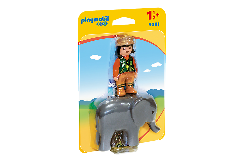 9381 Zookeeper with Elephant detail image 3