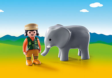 9381_product_detail/Zookeeper with Elephant
