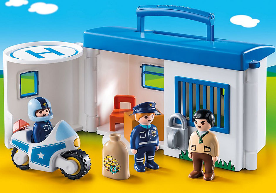 http://media.playmobil.com/i/playmobil/9382_product_detail/1.2.3 Comisaría Policía Maletín