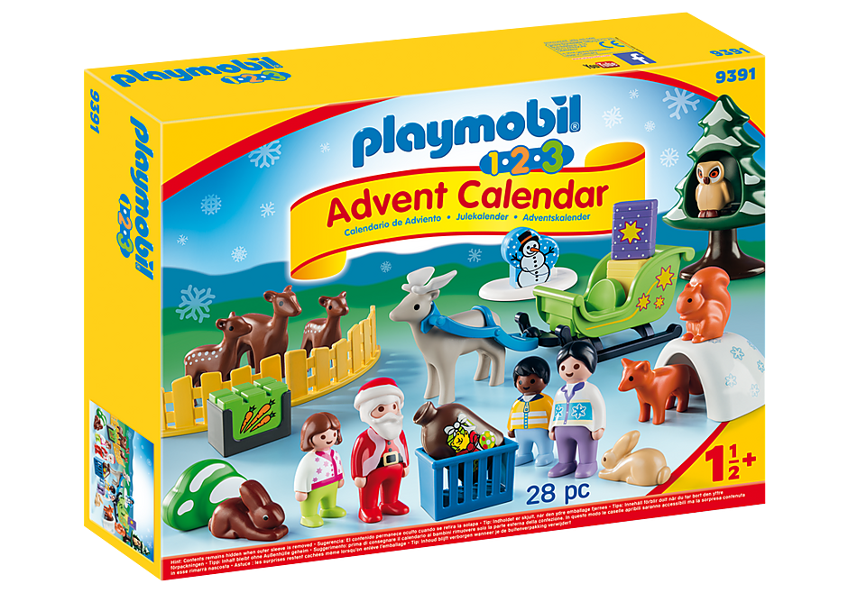 "http://media.playmobil.com/i/playmobil/9391_product_box_front/1.2.3 Adventskalender ""Jul i dyrenes skov"""