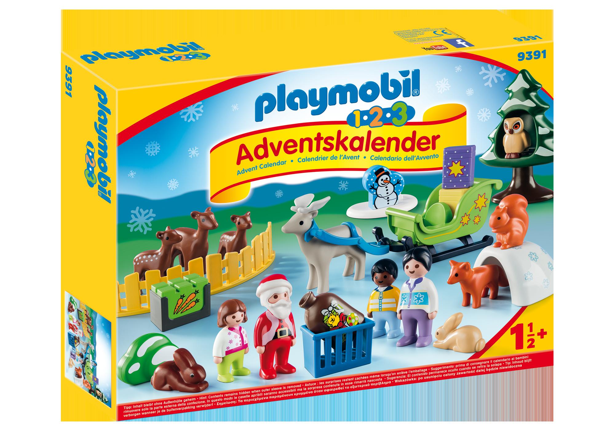 "http://media.playmobil.com/i/playmobil/9391_product_box_front/1.2.3 Adventskalender ""Waldweihnacht der Tiere"""