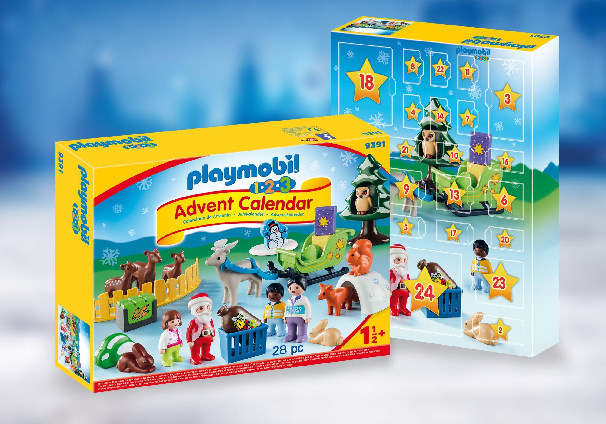 """http://media.playmobil.com/i/playmobil/9391_product_detail/Kalendarz adwentowy 1.2.3 """"Leśne święta"""""""