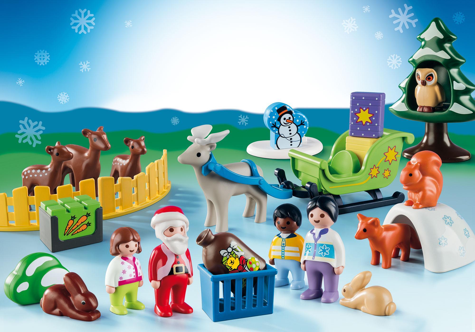 http://media.playmobil.com/i/playmobil/9391_product_extra1/Calendrier de l'Avent 1.2.3 'Père Noël et animaux de la forêt'