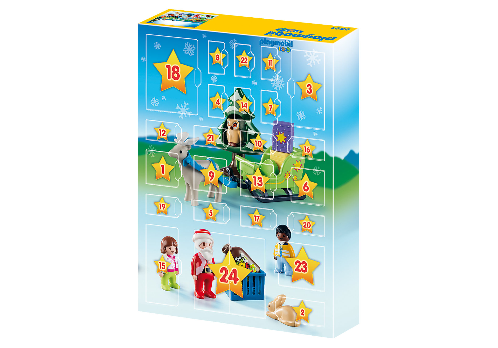 http://media.playmobil.com/i/playmobil/9391_product_extra2/Χριστουγεννιάτικο Ημερολόγιο - Χριστούγεννα στο δάσος