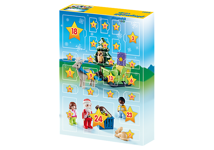 Inhalt Playmobil 1-2-3 Adventskalender