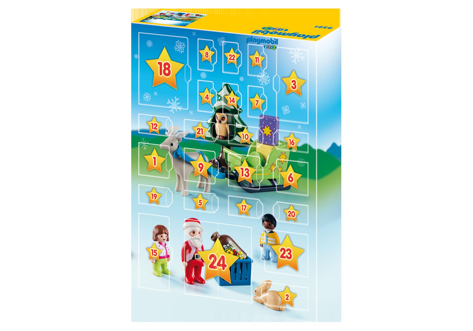 "http://media.playmobil.com/i/playmobil/9391_product_extra2/Kalendarz adwentowy 1.2.3 ""Leśne święta"""