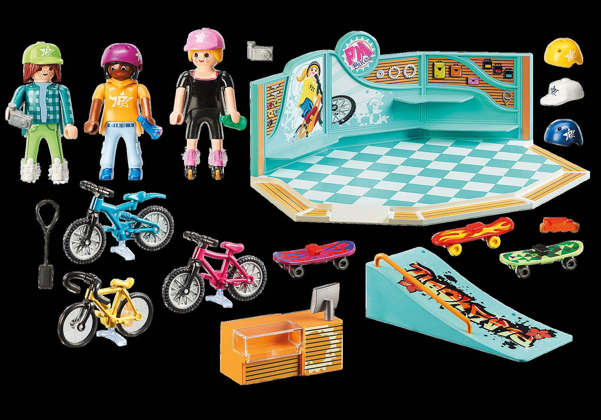 http://media.playmobil.com/i/playmobil/9402_product_box_back/Bike & Skate Shop