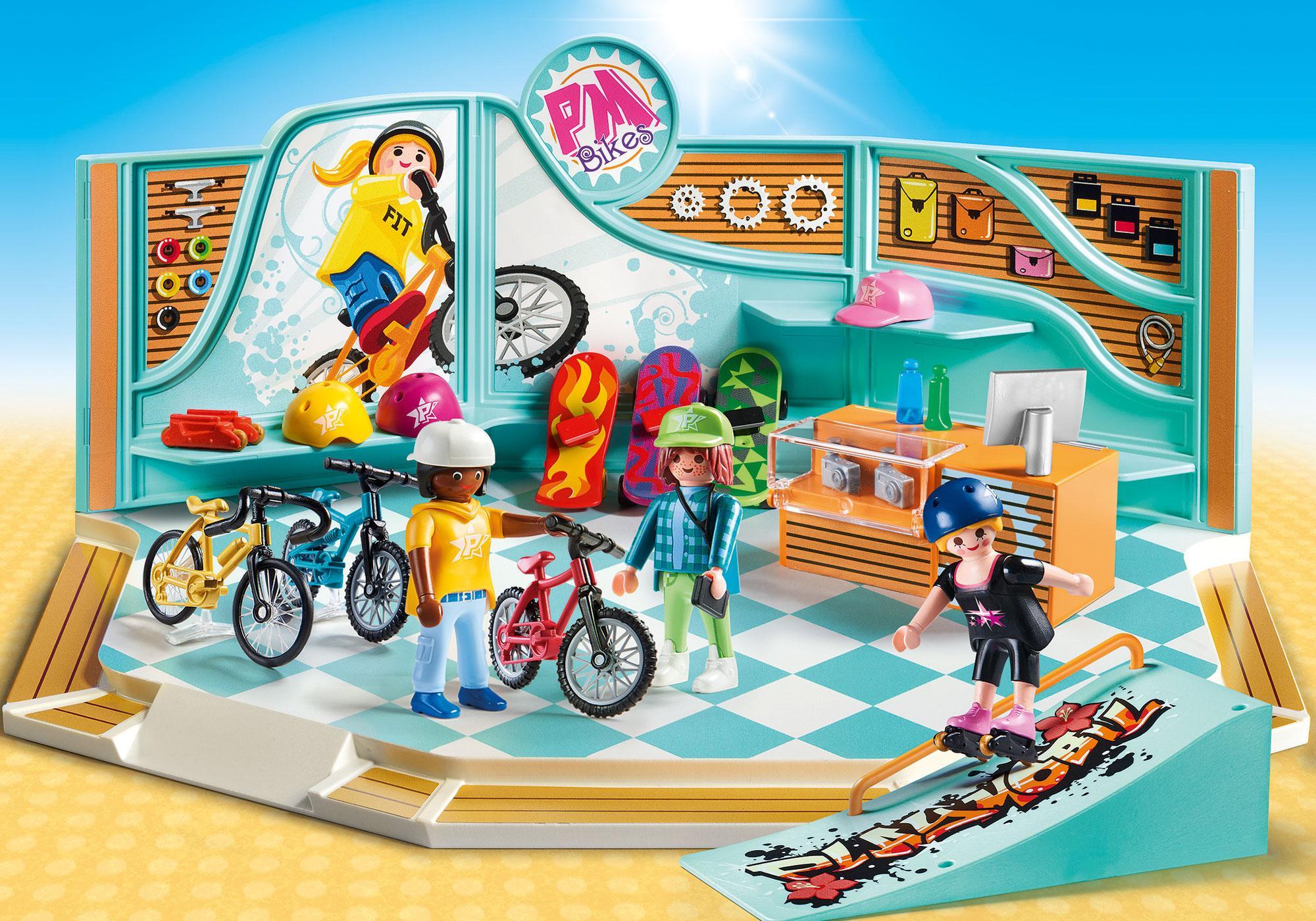 http://media.playmobil.com/i/playmobil/9402_product_detail/Sklep rowerowy i skateboardowy