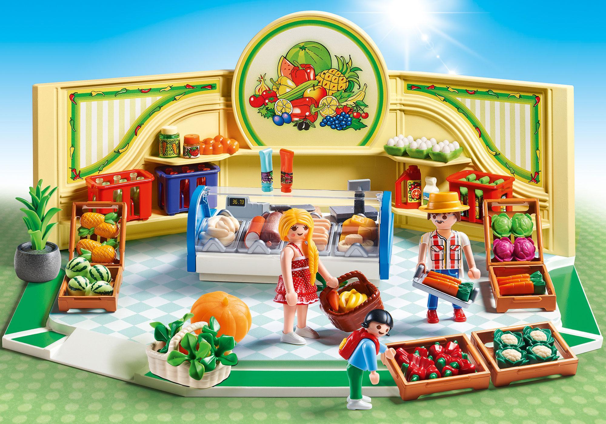 http://media.playmobil.com/i/playmobil/9403_product_detail/Mercearia de Frutas e Verduras