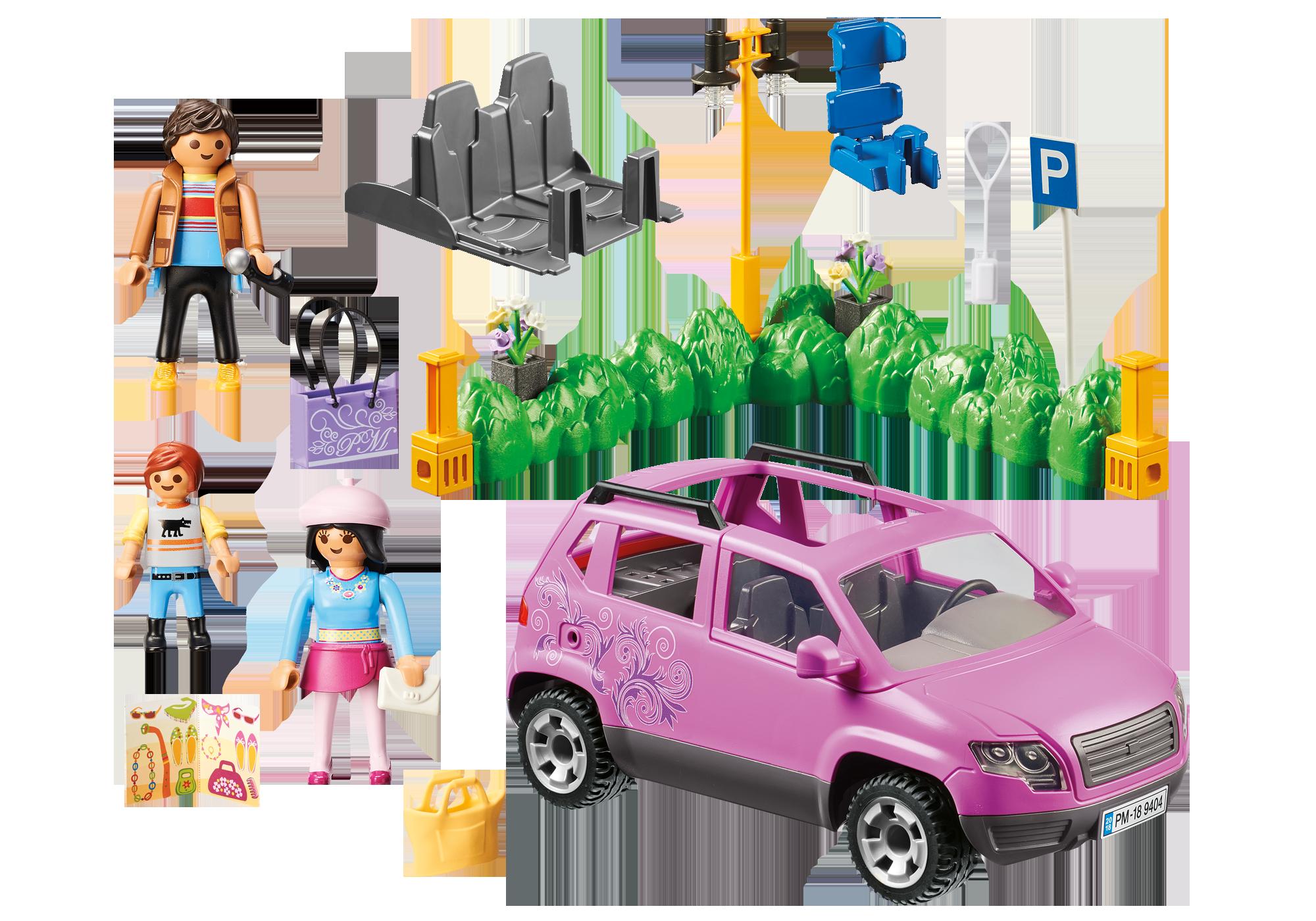http://media.playmobil.com/i/playmobil/9404_product_box_back/Famiglia al parcheggio dell'outlet