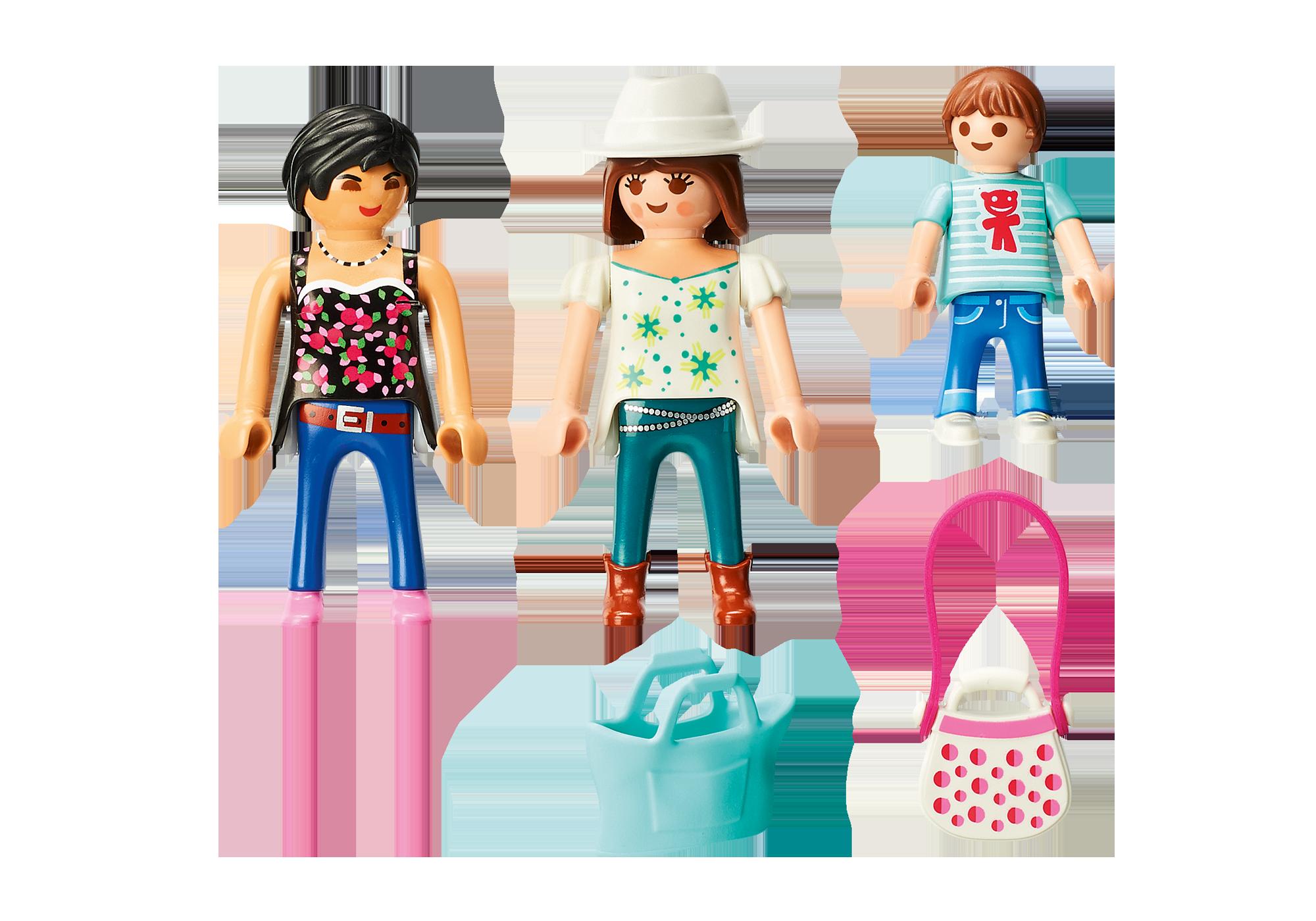 http://media.playmobil.com/i/playmobil/9405_product_box_back/Mulheres vão às compras com os filhos