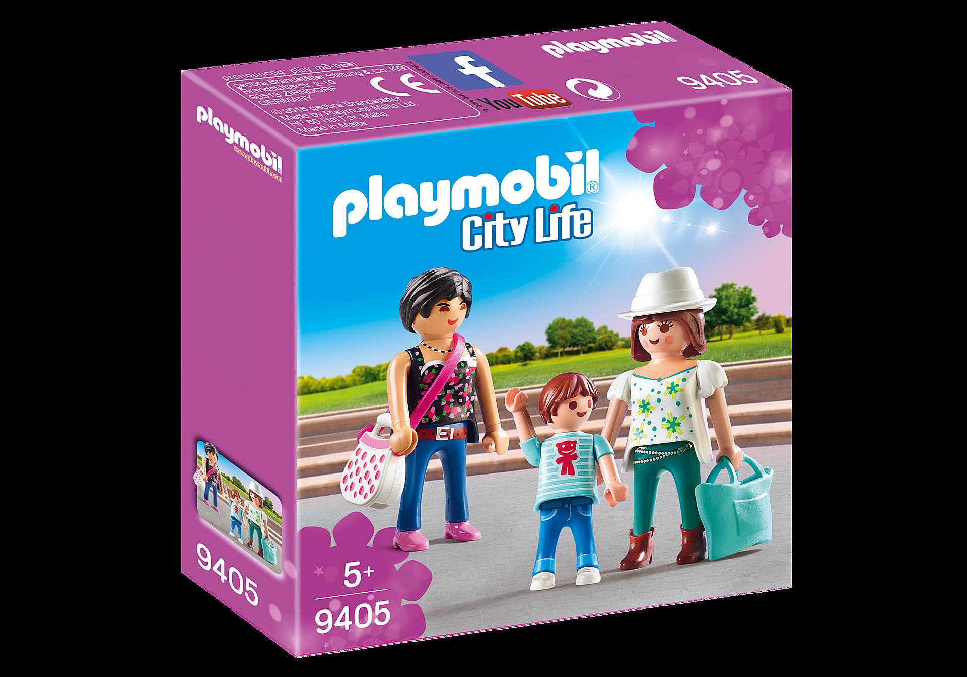 http://media.playmobil.com/i/playmobil/9405_product_box_front/Mulheres vão às compras com os filhos