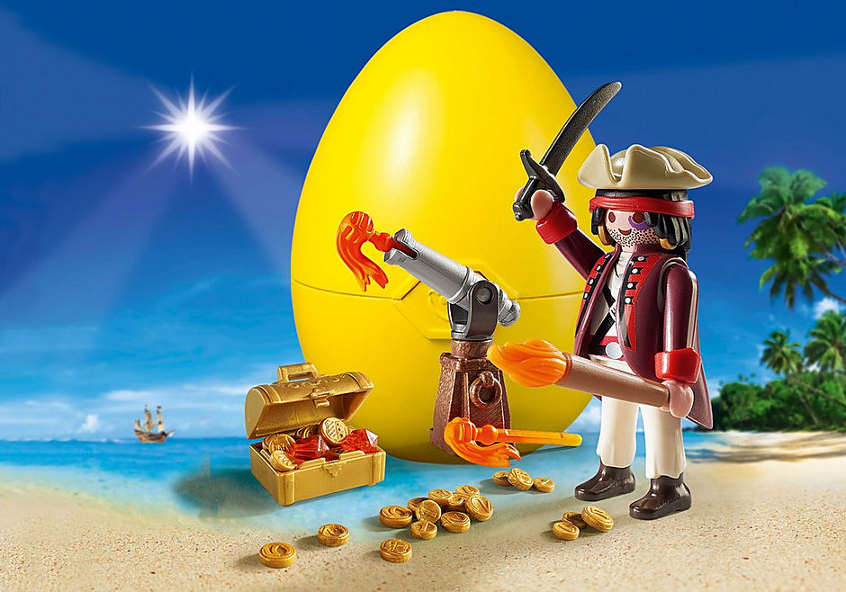 9415 Pirate avec canon et trésor  detail image 1