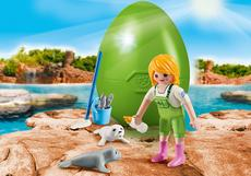 Playmobil Zookeeper With Seal Pups 9418