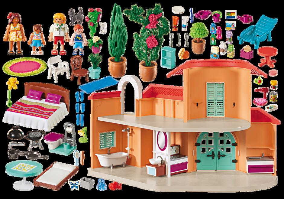Sonnige ferienvilla 9420 playmobil deutschland - Playmobil 3230 casa de vacaciones ...