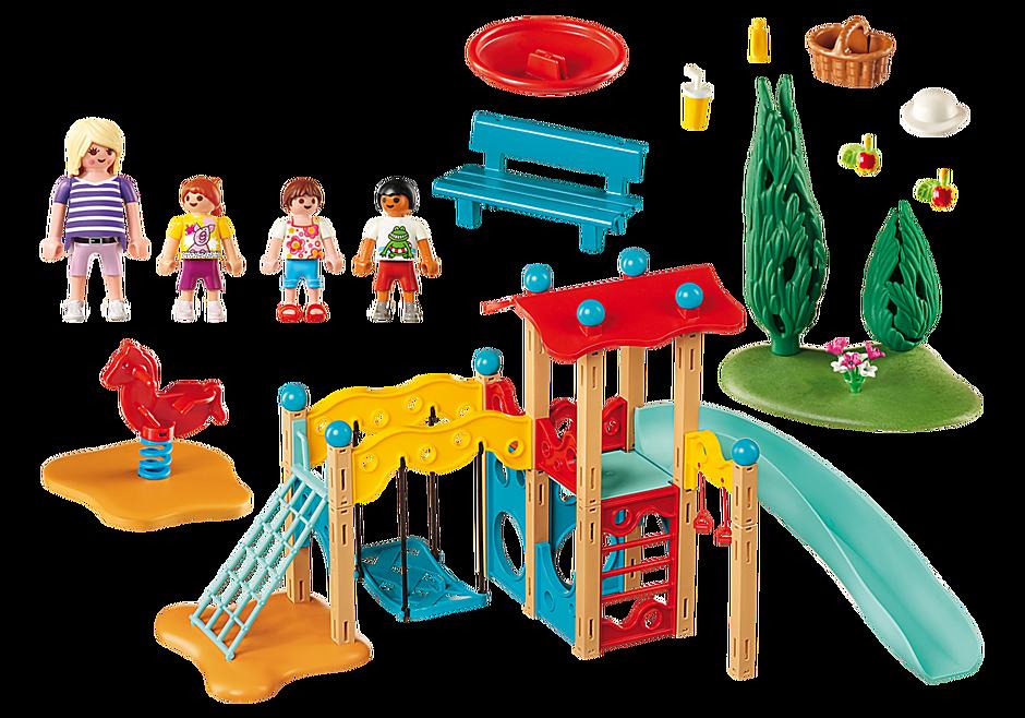 9423 Parc de jeu avec toboggan  detail image 4