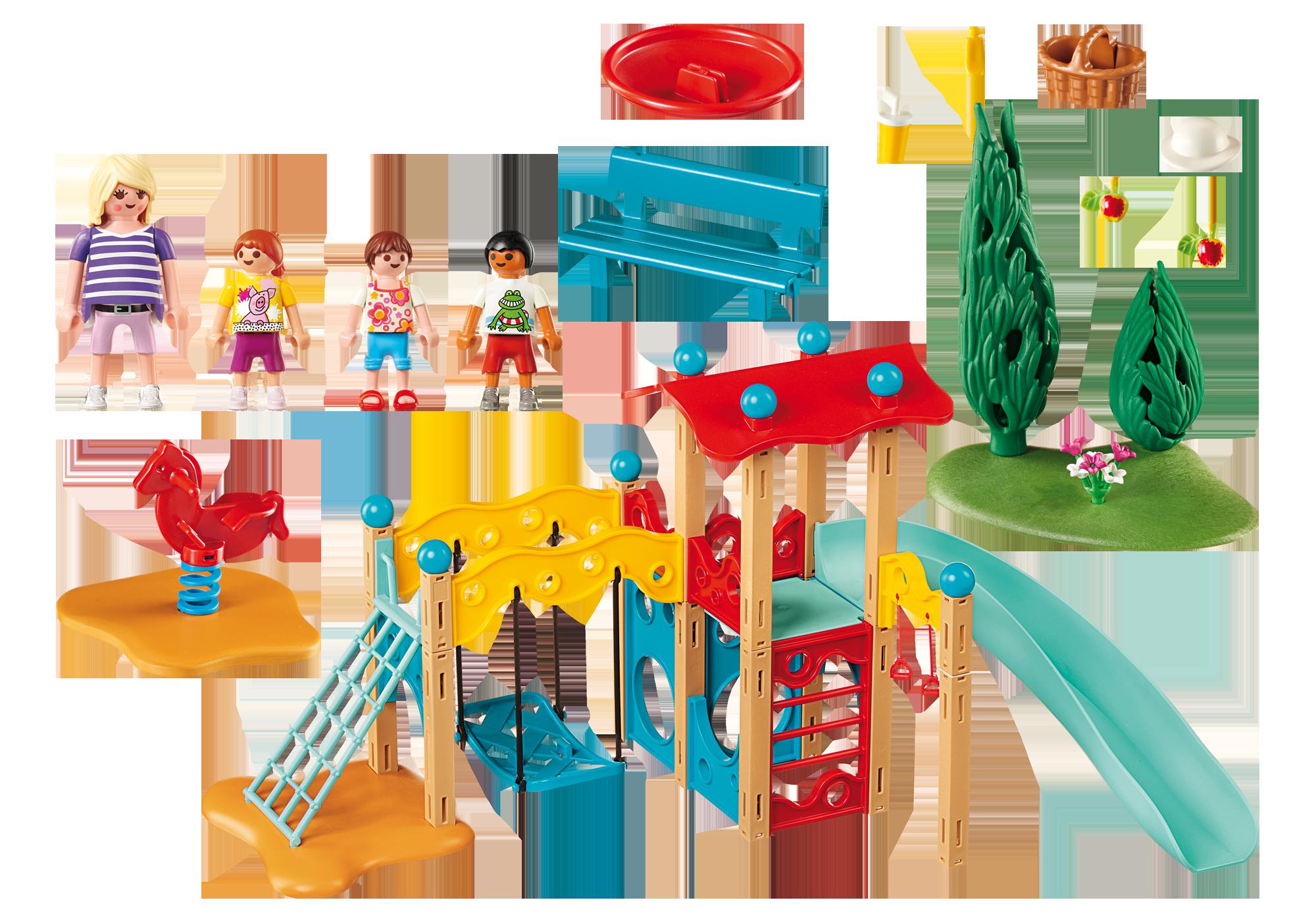 http://media.playmobil.com/i/playmobil/9423_product_box_back/Parc de jeu avec toboggan