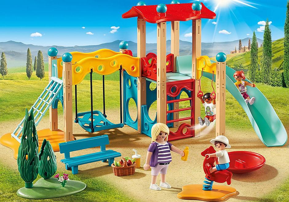 9423 Parc de jeu avec toboggan  detail image 1