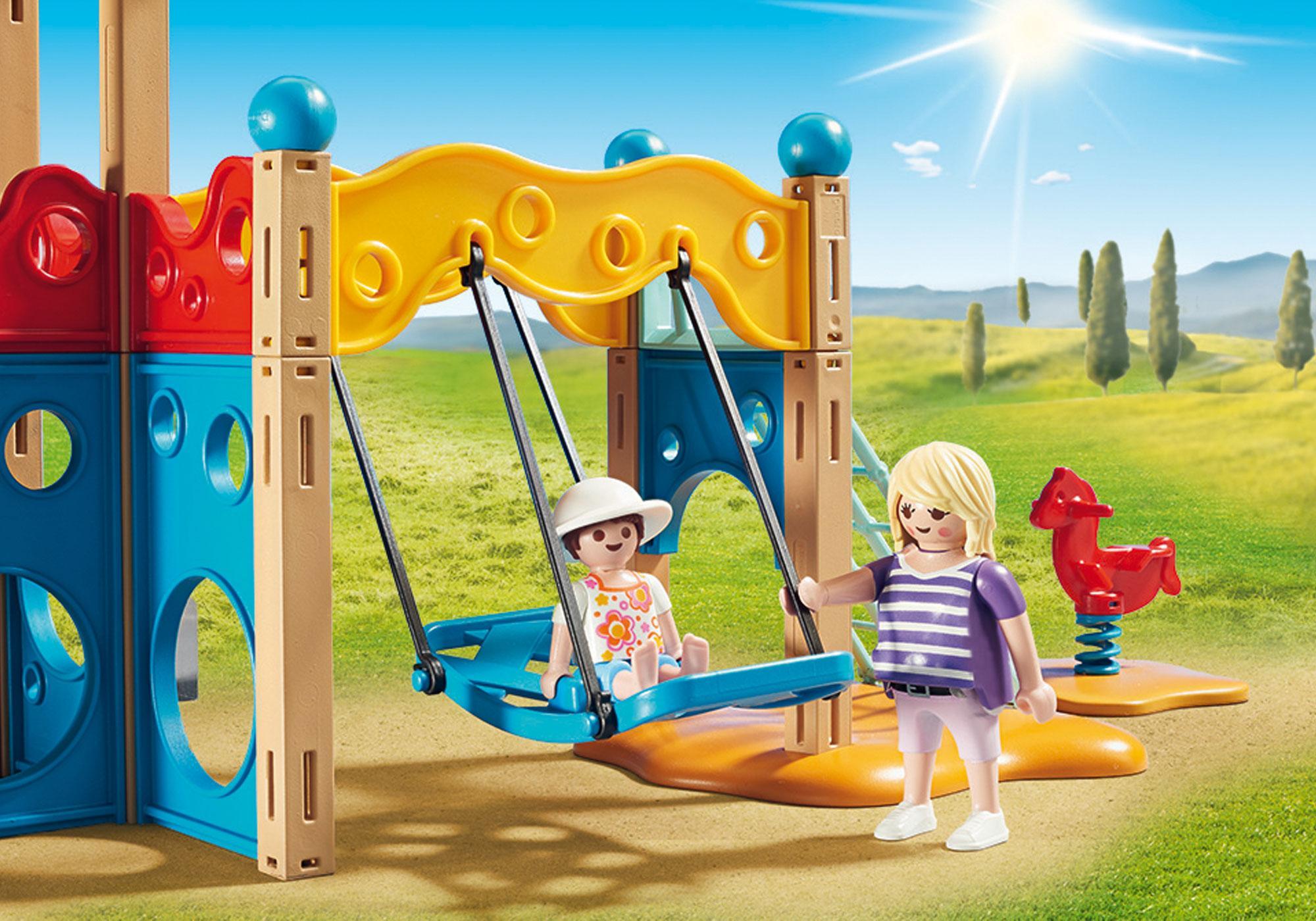 http://media.playmobil.com/i/playmobil/9423_product_extra3/Parc de jeu avec toboggan