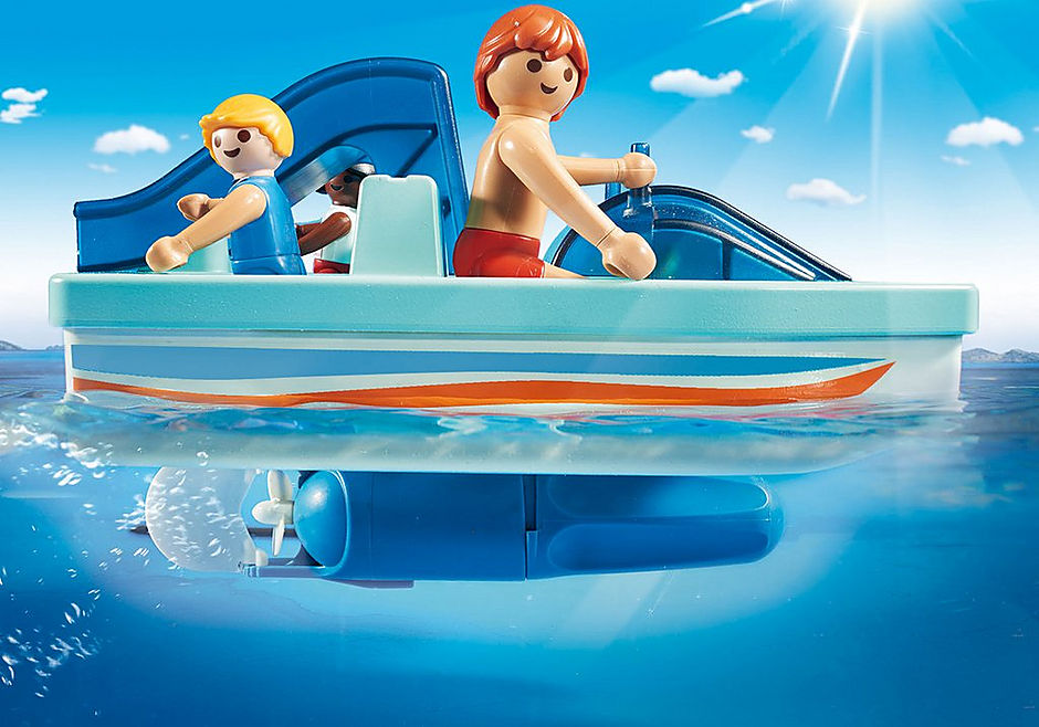 9424 Waterfiets met glijbaan detail image 5