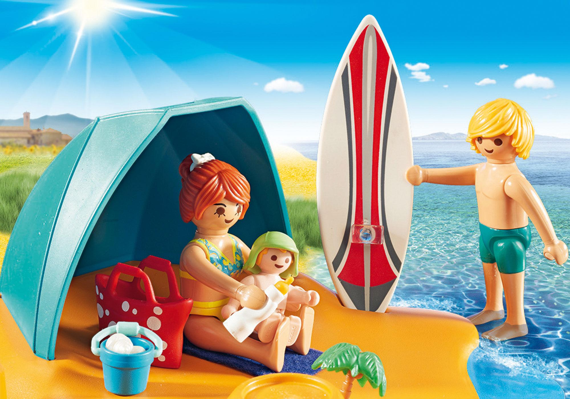 http://media.playmobil.com/i/playmobil/9425_product_extra1/Οικογενειακή διασκέδαση στην παραλία