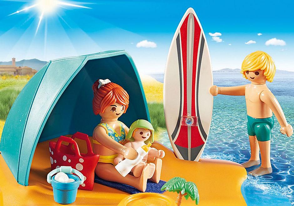 9425 Familie på stranden detail image 5