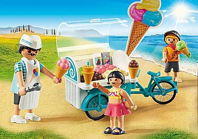 9426 Παγωτατζής με ποδήλατο ψυγείο
