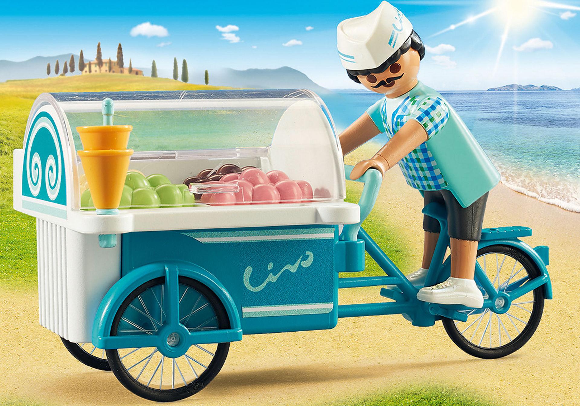 http://media.playmobil.com/i/playmobil/9426_product_extra1/Rower z wózkiem z lodami