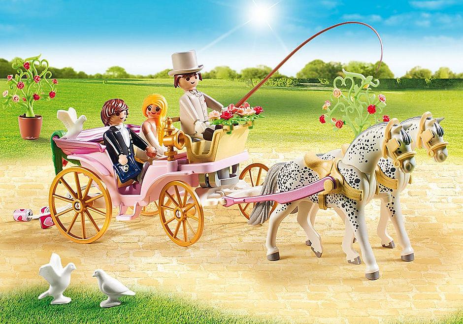 9427 Carrosse et couple de mariés  detail image 5