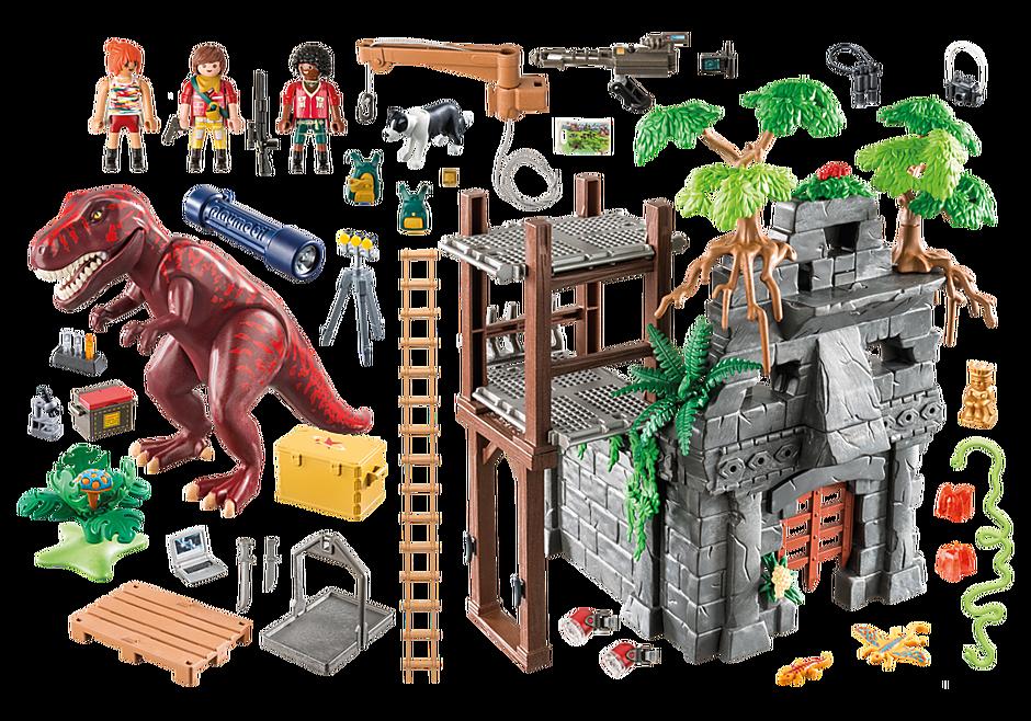 9429 Acampamento Base com T-Rex detail image 4