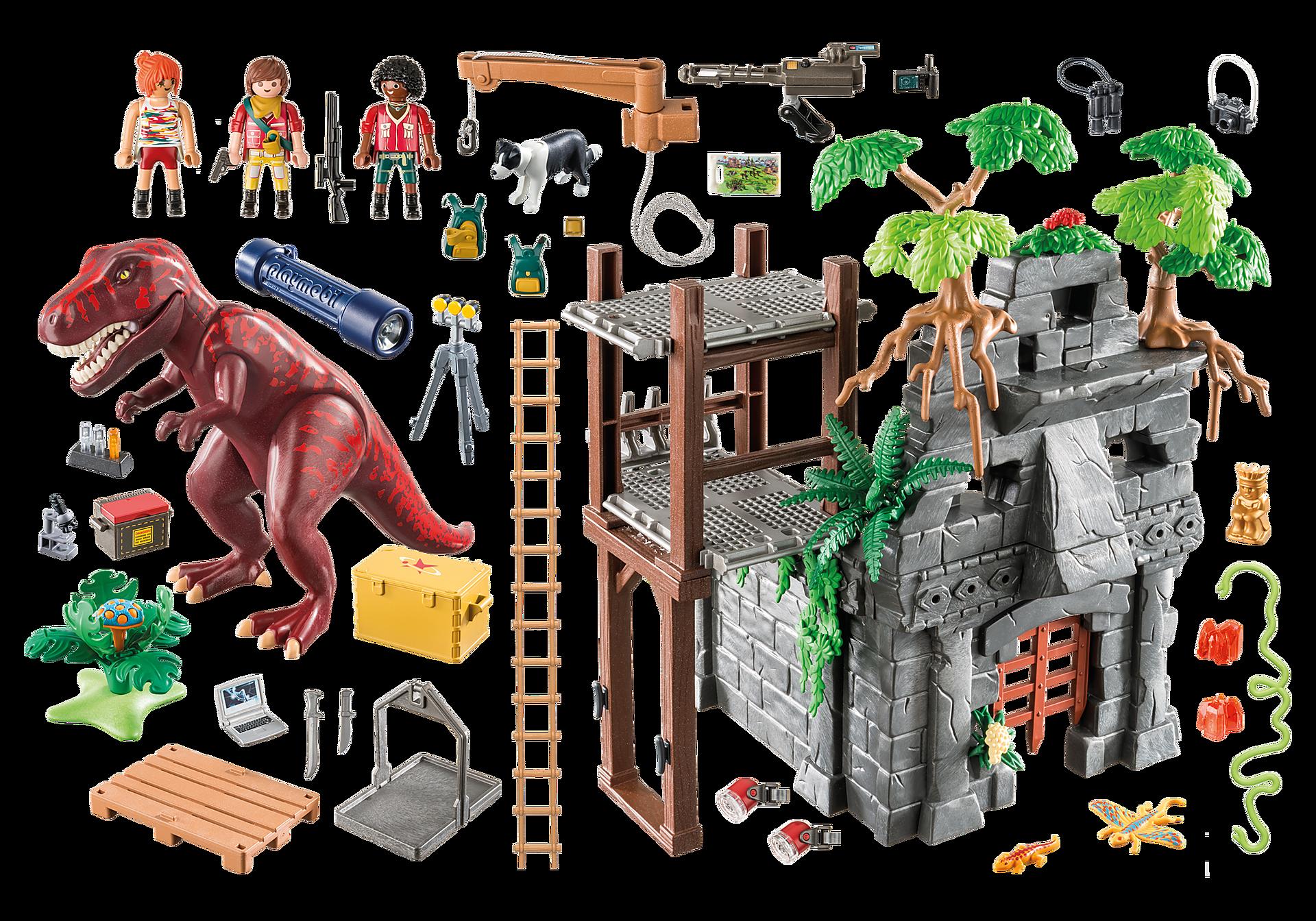 9429 Basiskamp van de avonturiers met T-Rex zoom image4