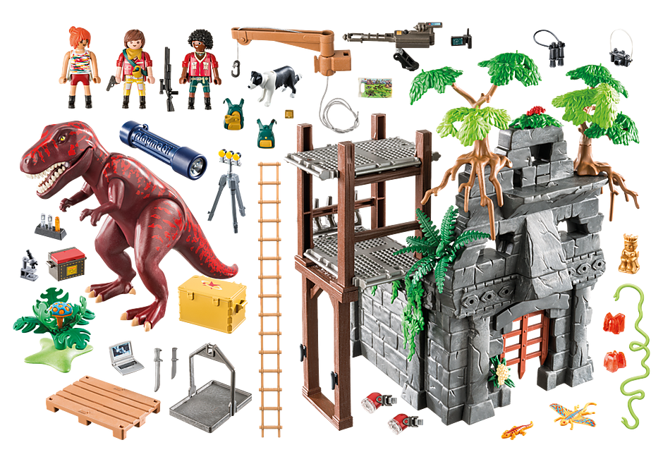 9429 Hidden Temple with T-Rex detail image 4