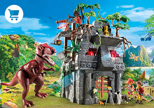 9429_product_detail/Acampamento Base com T-Rex