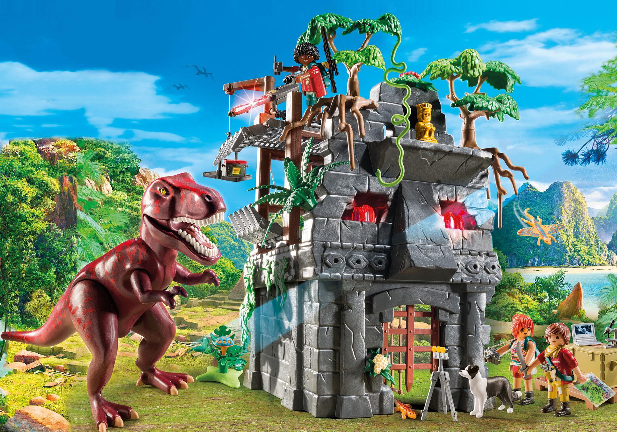 Campement avec tyrannosaure