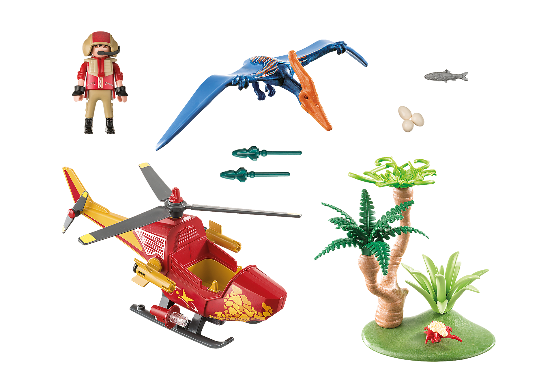 9430 Helikopter met Pteranodon zoom image4