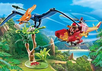 9430 Helicóptero com Plesiosaurio